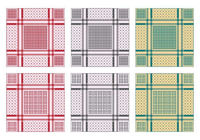 Background Of Keffiyeh Pattern