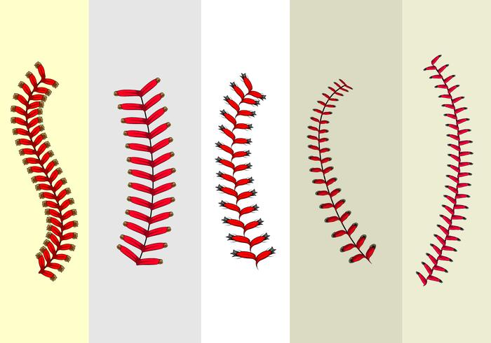 Baseball Laces Free Vector