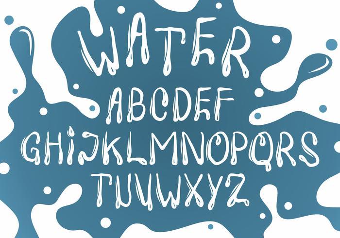 Witte Water Lettertype Vector Set