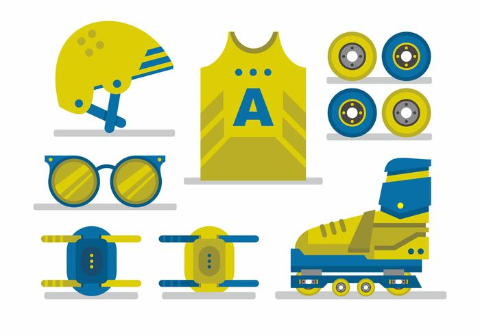 Roller Derby Vector Set