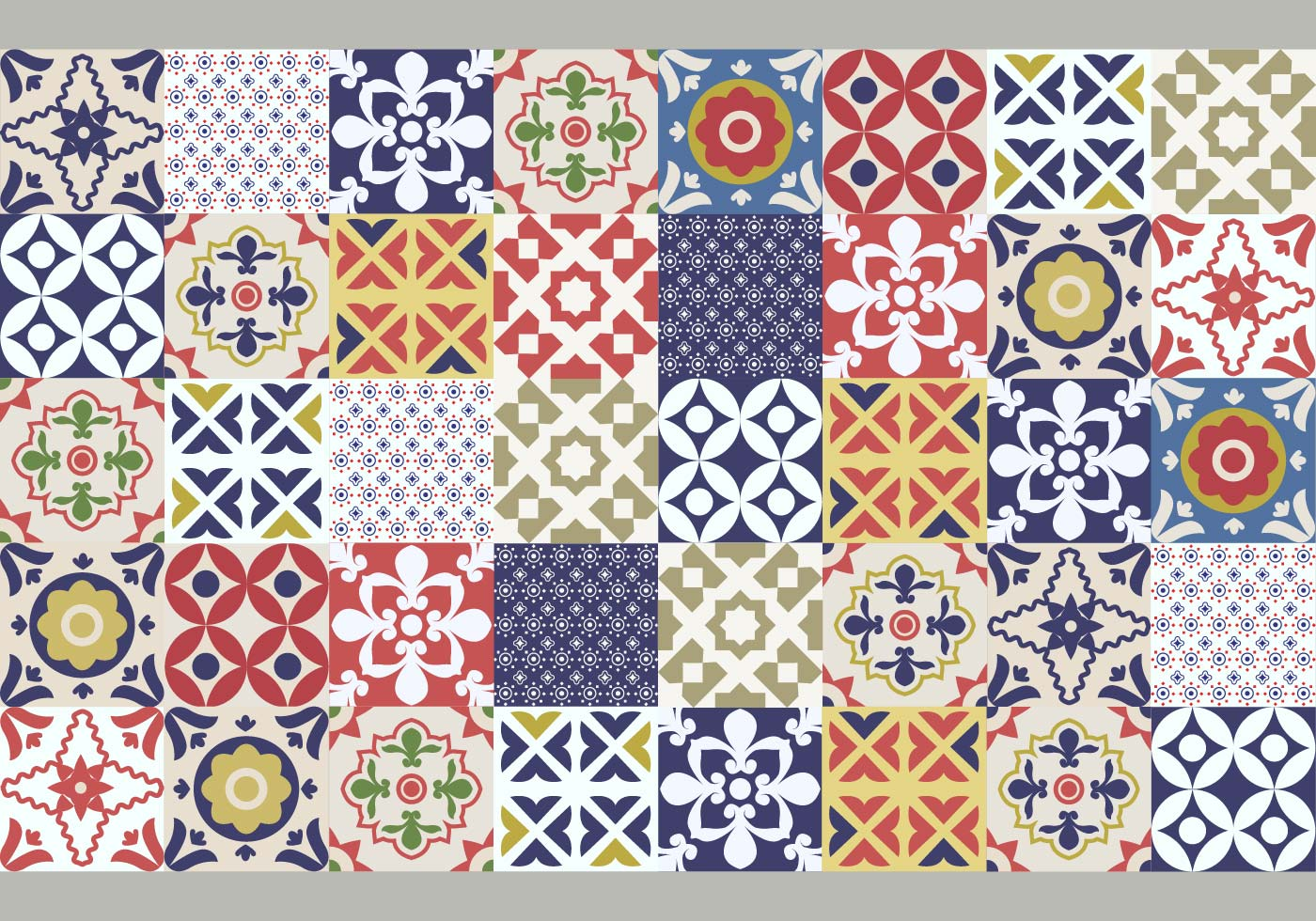 Portuguese Tile Pattern Download Free Vector Art Stock