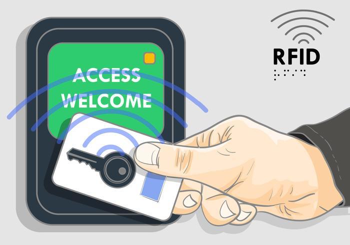 Keylock With Rfid Illustration