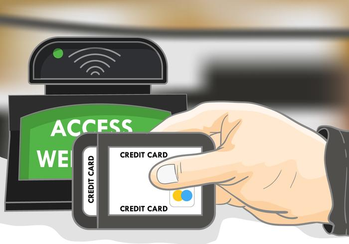 Payment With Rfid Illustration