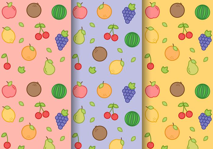 Vector Free Pattern de fruits