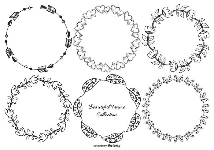Hand Drawn Decorative Frame Collection - Download Free Vector Art ...