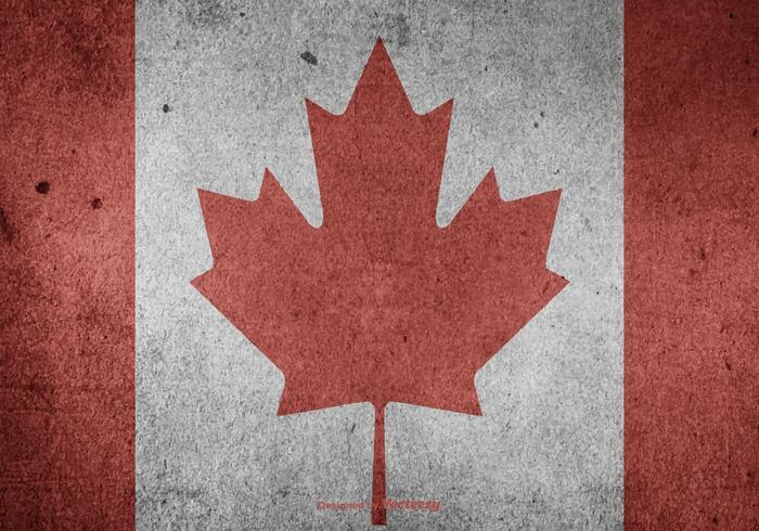 Grunge Canadian Vector Flag