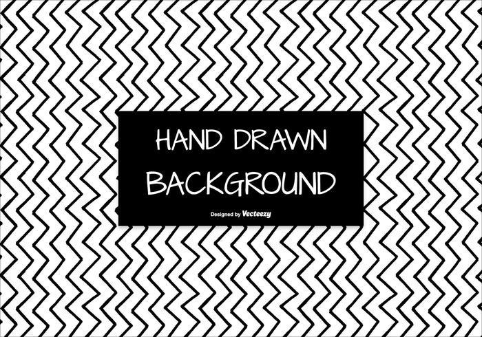 Hand getekende stijl Naadloze Chevron Achtergrond