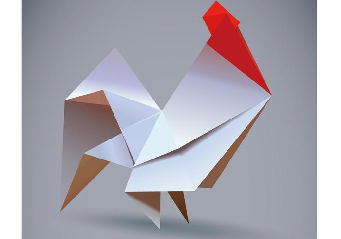 Rooster origami