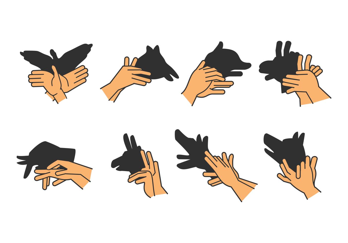 Set of Shadow Hand Puppet Vol. 2 - Download Free Vectors, Clipart ...