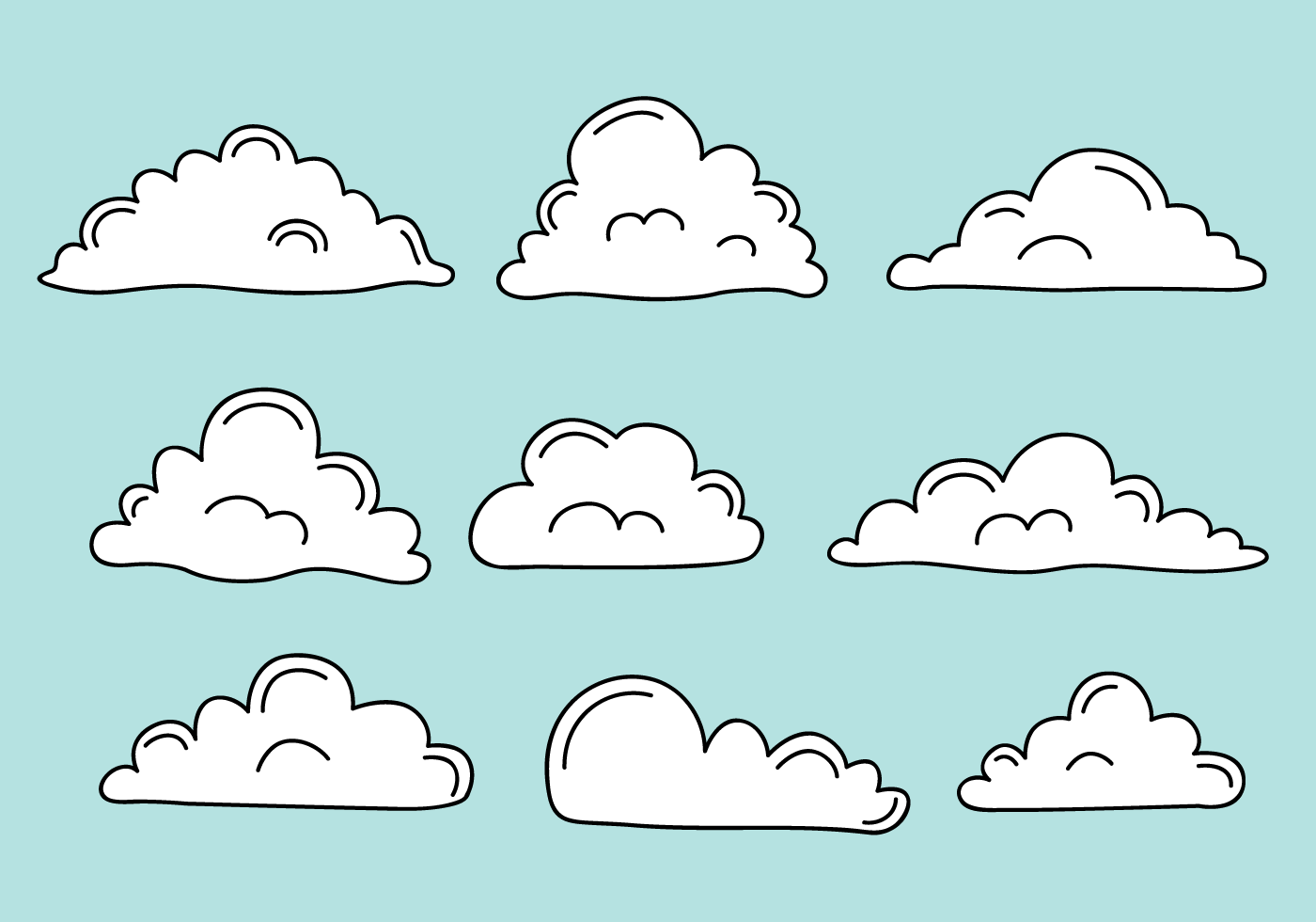 Free Clouds Vector - Download Free Vector Art, Stock ...