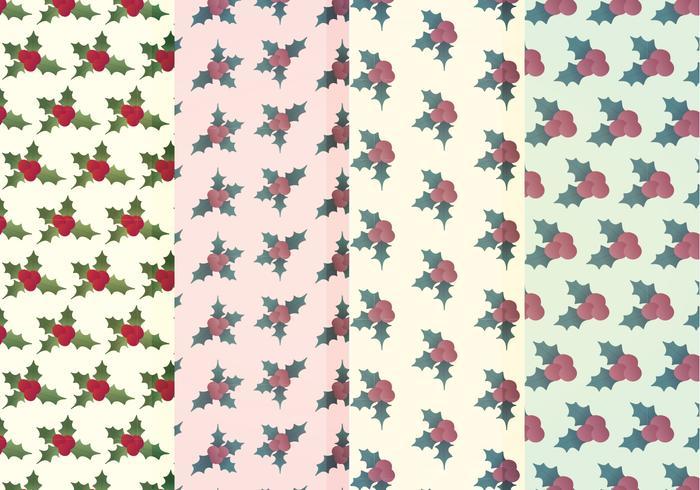 Vector Holly Winter Patterns