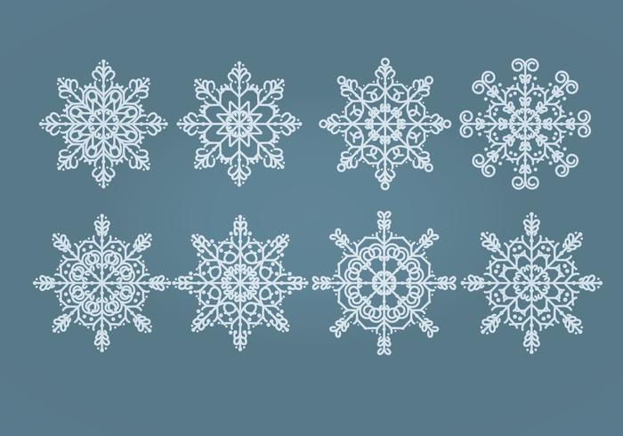 Vector Sneeuwvlokken Set