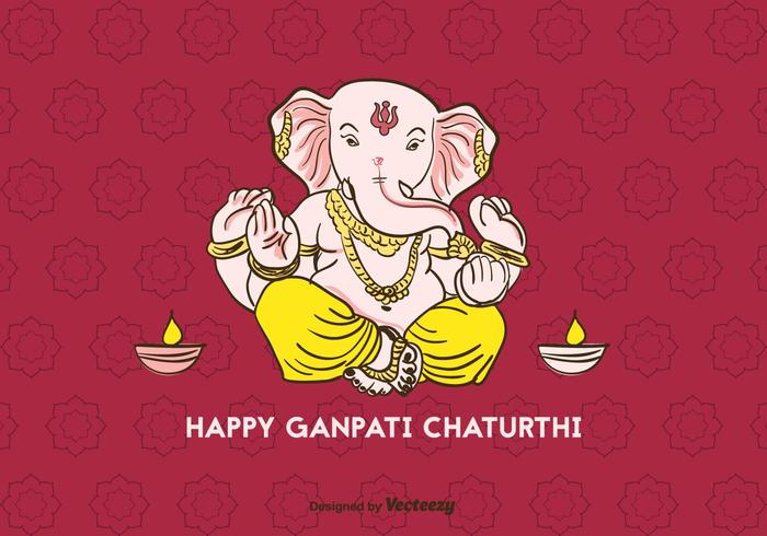 Glad Ganpati Chaturthi Vector