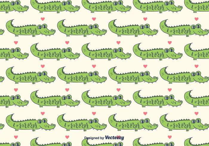 Gator Pattern Vector