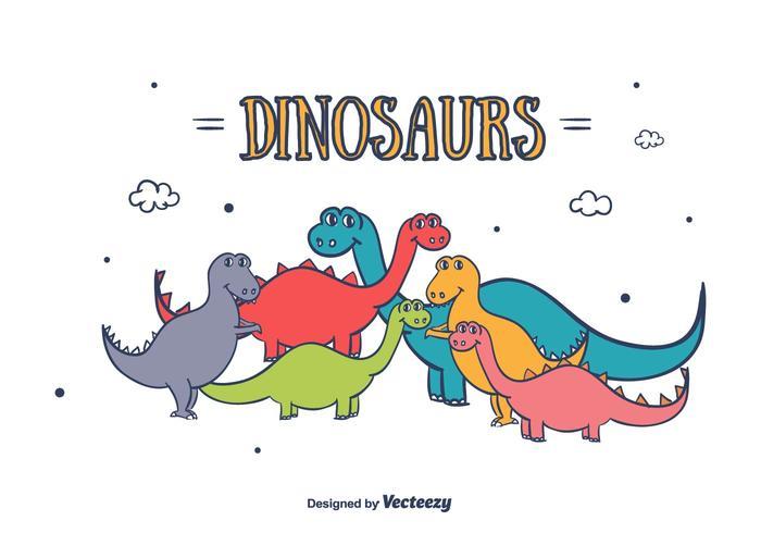 Dinosaurussen Vector