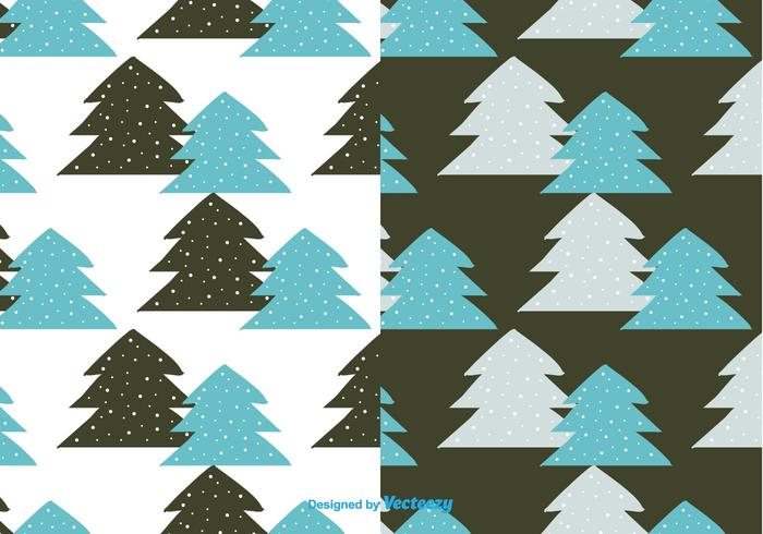 Winterbomenpatroon Vector