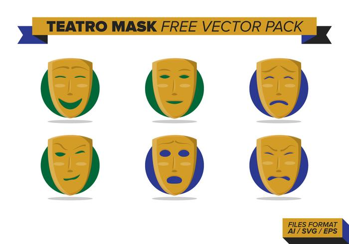 Teatro Mask Free Vector Pack