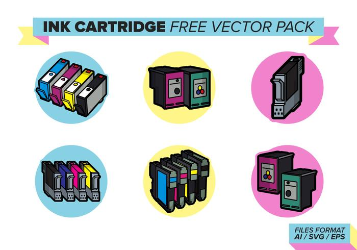 Ink Cartridge Free Vector Pack