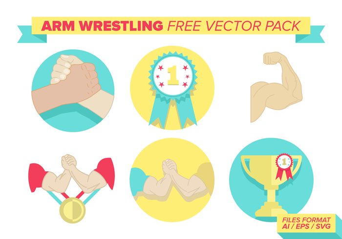 Arm Wrestling Free Vector Pack