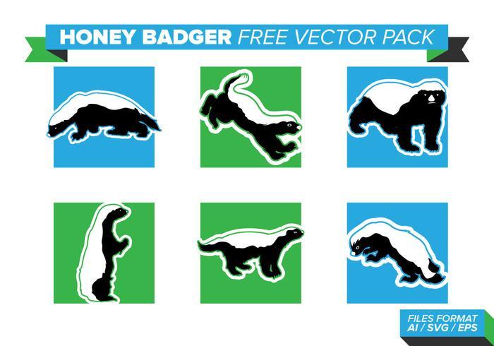 Honey Badger Free Vector Pack
