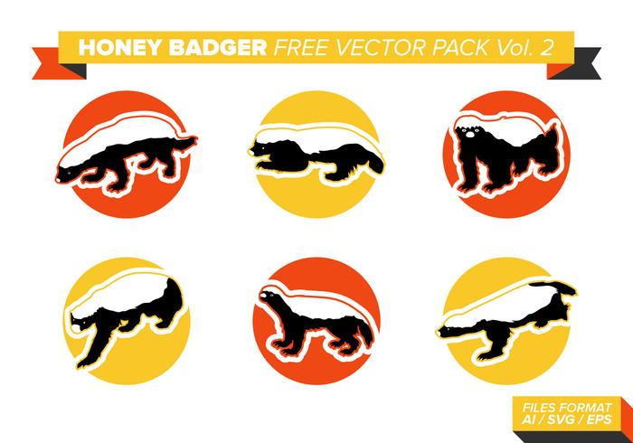 Pack de vecteur libre Badger de miel Vol. 2