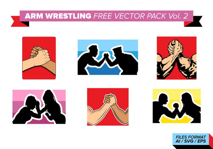 Arm Wrestling Free Vector Pack Vol. 2