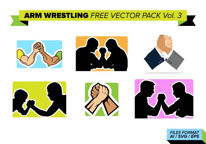 Arm Wrestling Free Vector Pack Vol. 3