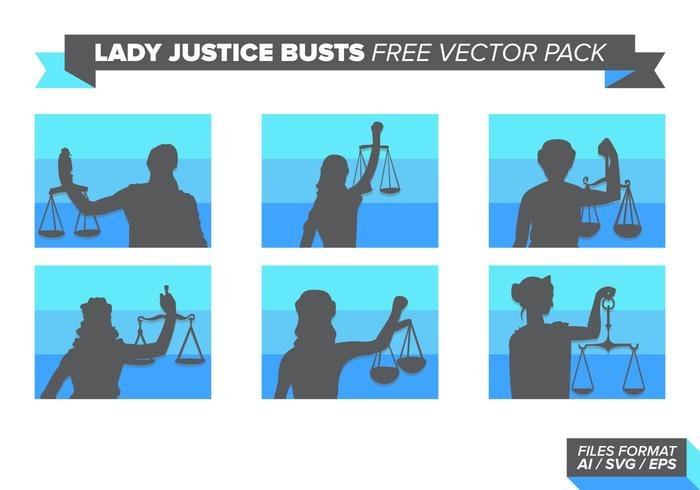 Lady Justice Busts Free Vector Pack