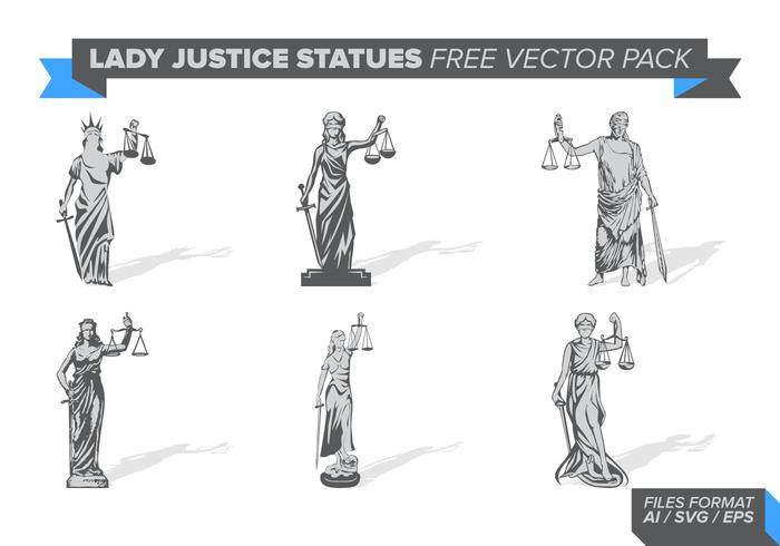Lady Justice Statue Gratis Vector Pack