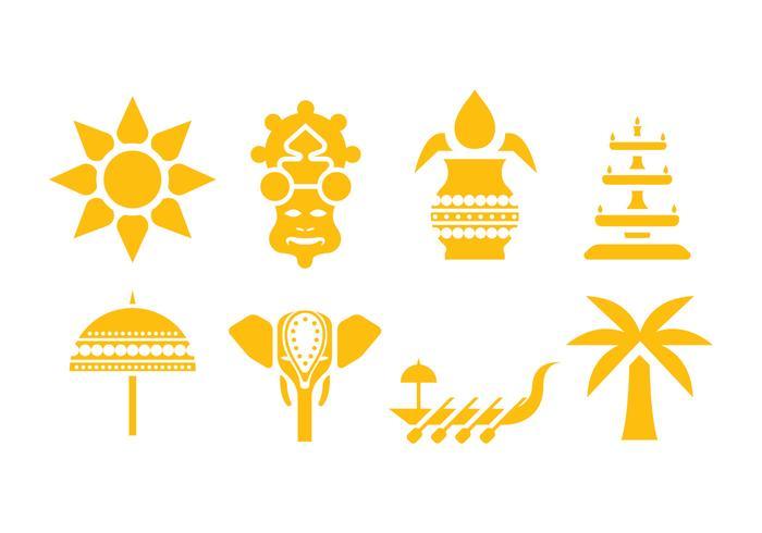Iconos de vector de Onam