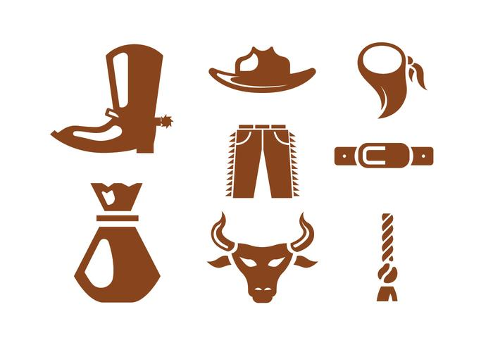 Rodeo Vector Iconos
