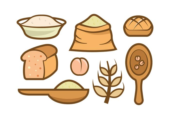 Hafer Meal Vektor Icons