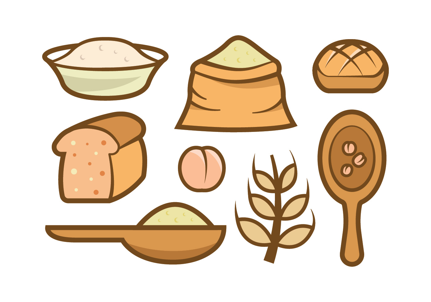 Oats Meal Vector Icons Download Free Vector Art Stock