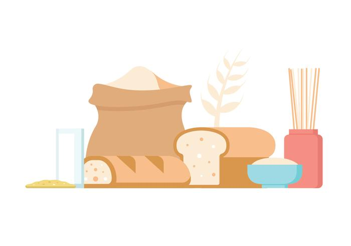 Oats Food Vector Icons