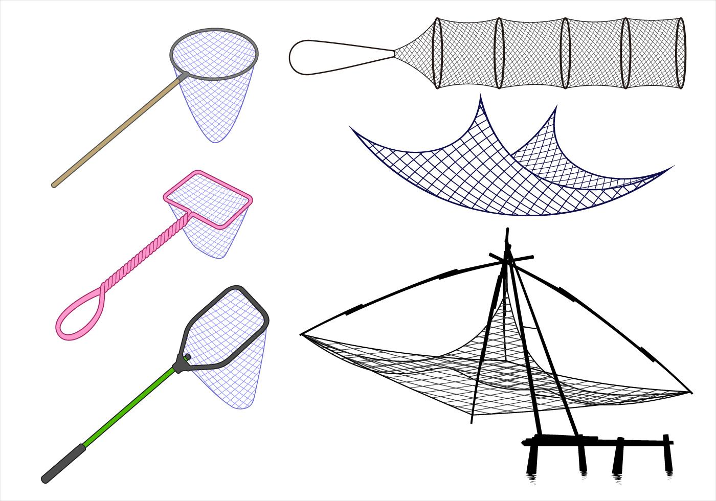 fishing net vector - photo #4