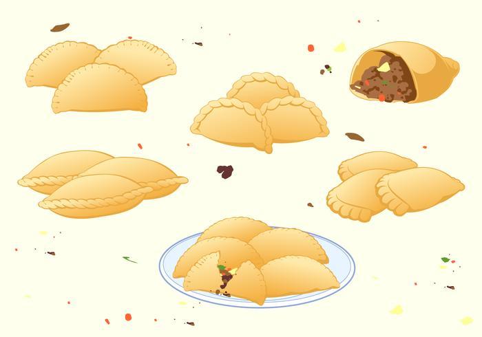 vettore gratuito empanadas