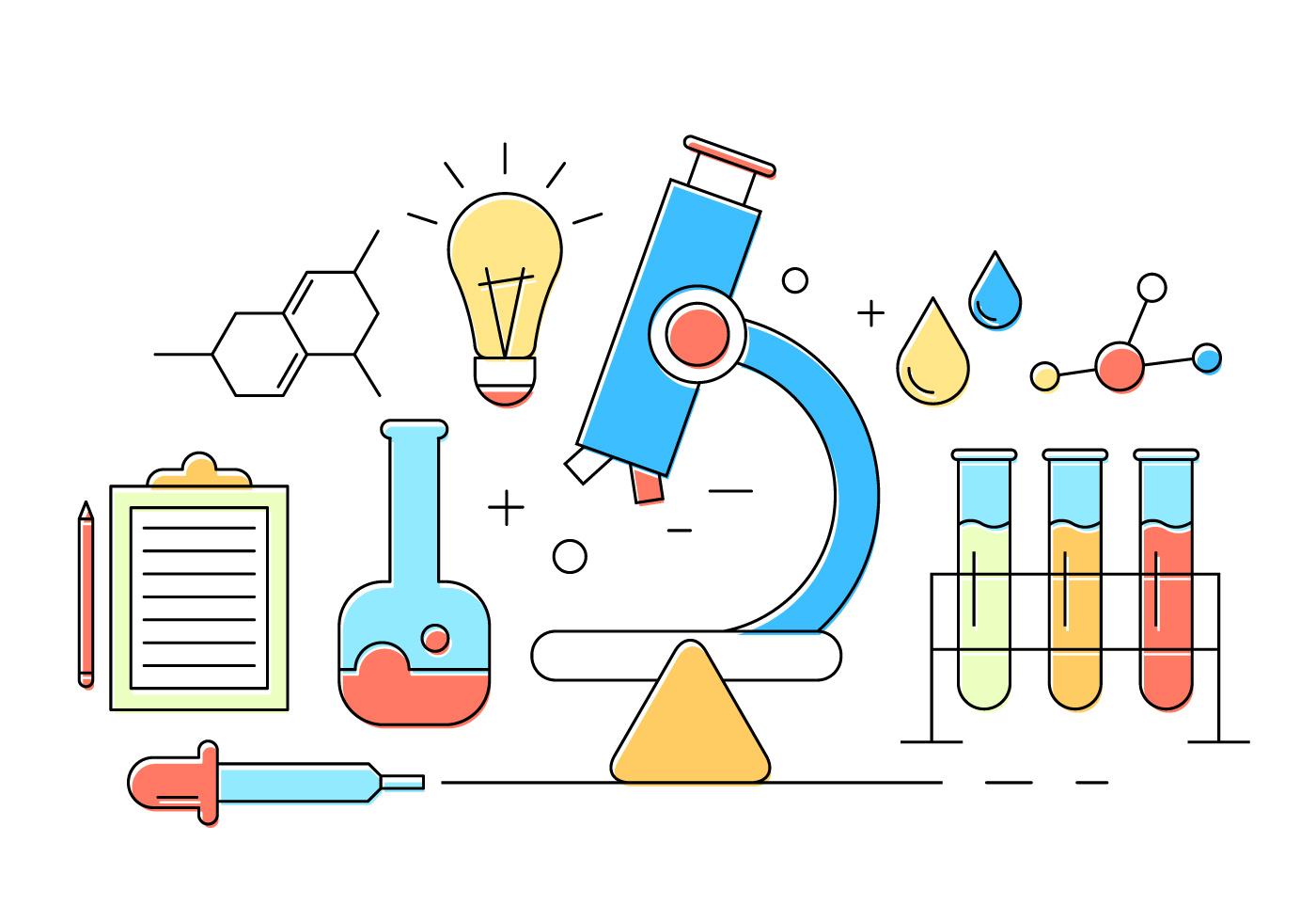 Chemistry Background Free Vector Art