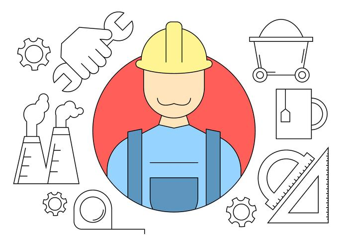 Construction Engineering Icons vector