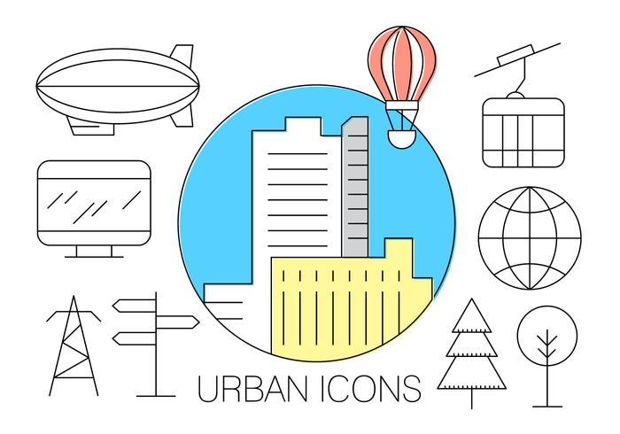 Iconos Urbanos Gratuitos vector