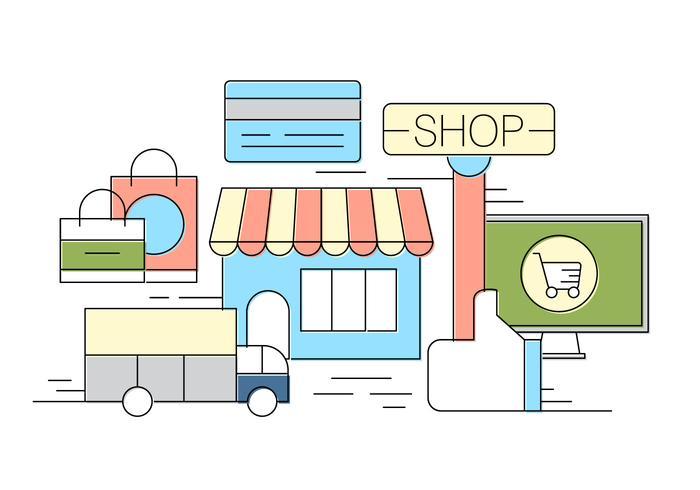 Ilustración vectorial de la tienda gratis vector