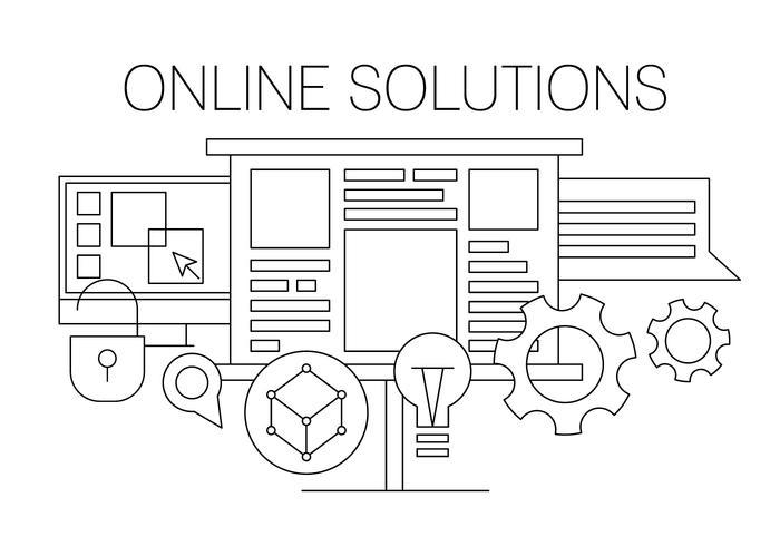 Illustration vectorielle en ligne
