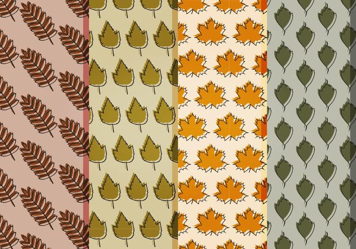 Vector Fall Leaves Patterns
