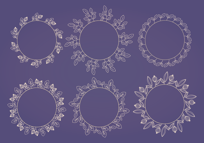 Vector Flower Wreath Collection