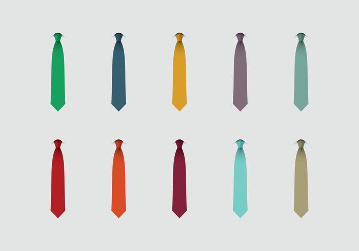 Cravatta Icon Set vettore