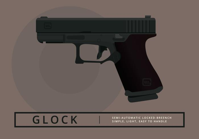 Glock Handgun Illustration