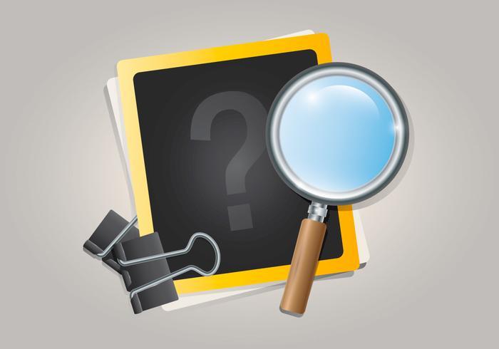 Trivia Quiz Logo Ilustración vector
