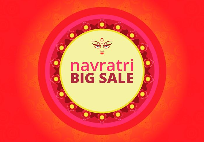Navratri Big Sale Illustration