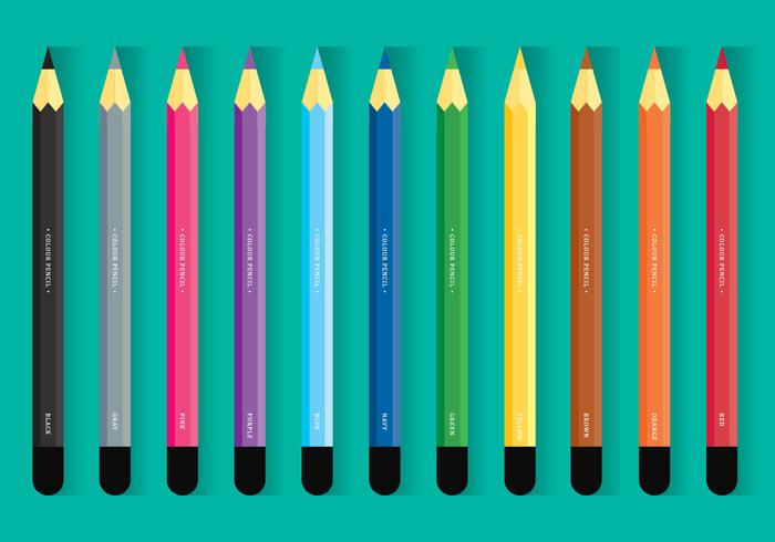 Conjunto de lápices de colores