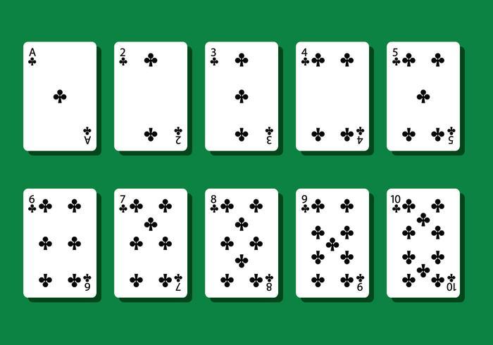 Club Poker Card Vectors