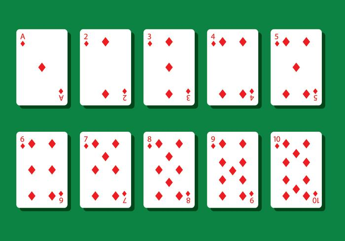 Diamond Poker Card Vectors